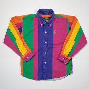 Vintage 90's Ralph Lauren Colorblock Rainbow Shirt
